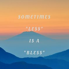 Less is a blessing! Our Life, Real Life, A Blessing, Blessed, People, Movie Posters, Movies, Films, Film