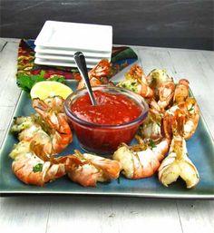 Grilled Lemon-Garlic Shrimp recipe