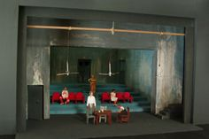 "Modellino per la scena di ""Tutto su mia madre"" - Scale model for ""All about my Mother"" set design by Antonio Panzuto"