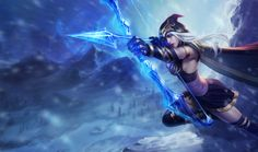 Ashe | League of Legends With each arrow she fires from her ancient ice-enchanted bow, Ashe proves she is a master archer. She chooses each target carefully, waits for the right moment, and then strikes with power and precision. It is with this same vision and focus that she pursues her goal of uniting the tribes of the Freljord and forging them into a mighty nation.