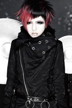 Harajuku Subculture. R-Shitei(R指定) - visual kei style. Japanese rock, punks and pop bands with glam style.