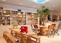 Baby Deli shop Deli Shop, Cafe Style, Designer Toys, Baby Design, Toy Store, Table, Spaces, Shopping, Furniture