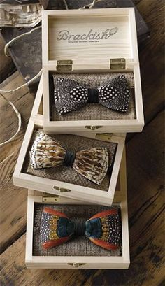 Feather Bow Tie / Brackish Feather Bow Ties -- Orvis