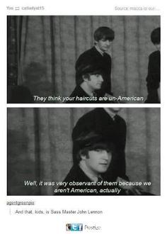 Wow, I totally didn't know the Beatles weren't American!!!1!1!!!!!! Such a shocker