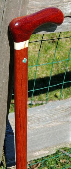 Bloodwood - Mahogany - Elk Antler Collar - Turquoise Inlays - Brazos Walking Sticks - (from the Mark Dwyer Collection)