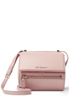 Givenchy Pandora light pink mini leather box bag