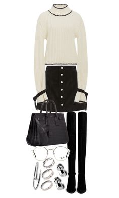 """Untitled #20317"" by florencia95 ❤ liked on Polyvore featuring AG Adriano Goldschmied, J.W. Anderson, Stuart Weitzman, Yves Saint Laurent, Ray-Ban and ASOS"