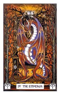 April 14 Tarot Card: The Emperor! (Dragon deck) You are infused with wisdom and power to achieve your goals
