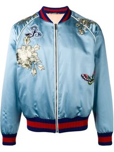 GUCCI Embroidered Bomber Jacket. #gucci #cloth #jacket
