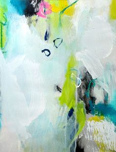 Original abstract painting on paper, acrylic painting, modern artwork, modern…
