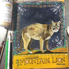 Mountain Lion. I am not at all in love with today's animal painting, but I'm sharing it anyway. Some days you make things that you love and some days you don't. And that's ok! Mountain Lion is about leadership and how everyone has unique qualities that can allow them to be leaders in their own ways. Mountain Lion is also about mothering. Telling the truth. Following your heart, whether others will follow or not. Be a good example in the world and it will trickle down to your children, those…