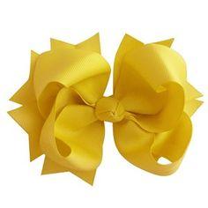 Laço tipo borboleta GG - cód. 17.183 - Amarelo