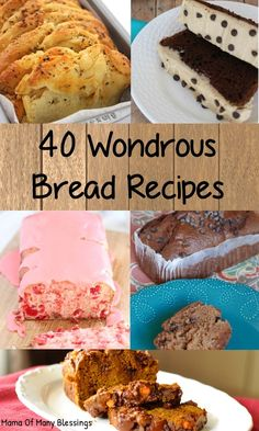 40 bread recipes perfect for breakfast, snacks, and more. Most will freeze great to make ahead for those busy mornings. Includes gluten free and more. Freezer Cooking, Freezer Meals, Bread Recipes, Real Food Recipes, Most Pinned Recipes, How To Make Bread, Bread Making, Canning Recipes, Other Recipes