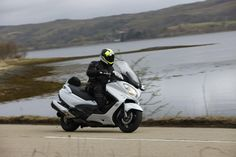 The 2013 Suzuki Burgman 650 ABS Executive on the bike's launch in Scotland