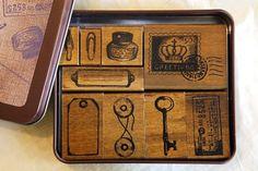 kodomo margaret stamps Set - Desk Finds / Greetings - Japanese Stamps - Craft Rubber Stamps