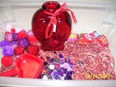 A's February sensory box.