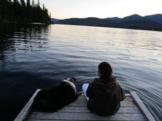 Twilight at Priest Lake