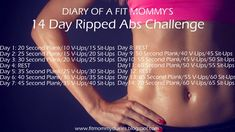 Diary of a Fit Mommy's14 Day Ripped Abs Challenge