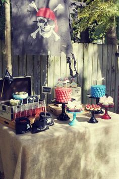 Pirate Birthday Party styled by My Little Jedi  Cakes and sweets by Sweet Bloom Cakes - JD's party!