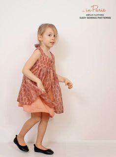 Girls dress patterns pdf Nohara dress for by AmelieClothing Little Girl Dresses, Girls Dresses, Flower Girl Dresses, Toddler Dress, Toddler Girl, Dress Websites, Sewing Patterns For Kids, Pdf Patterns, Girl Dress Patterns