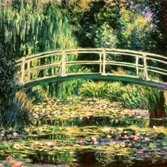 Claude Monet - A Waterlily Pond, Symphony In  Rose