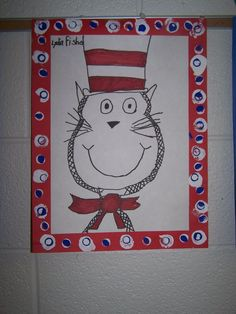 read across america art lesson - Google Search Primary School Art, Elementary Art, Dr Seuss Art, Dr Suess, First Grade Art, Second Grade, Animal Art Projects, Animal Crafts, Drawing Projects