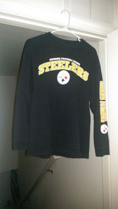 Unisex Pittsburgh Steelers Long Sleeve Shirt Size M  #NFLTeamApparel #PittsburghSteelers