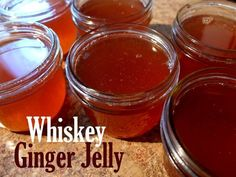 Whiskey Ginger Jelly I'm going to be honest, my apartment smells like a night of bad life choices… Think what you will, and maybe you should… but, a solid night out for me typical…
