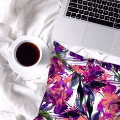 Weekends are perfect for lazy lounging in bed with #coffee ☕️,my computer and some #colorful throw pillows! GET THIS #brandnew design by #ebiemporium now in my #etsy shop! #throwpillow #homedecor #pillowcover #suedepillow #decor #bedding