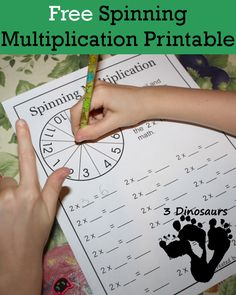 What you are going to find in these FREE Multiplication Game printables:  12 pages of printables Spinner with numbers 1 to 12 Page for each