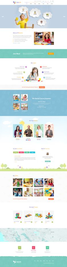 Buy Nashville : Kindergarten PSD Template by VictorThemesNX on ThemeForest. Nashville : Kindergarten PSD Template suitable for all types of Kindergarten Schools. That Includes totally 16 Pages. Interior Design Website, Website Design, Website Layout, Website Themes, Kids Sites, Flat Web Design, Kindergarten Design, Page Layout Design, Fitness Design