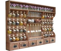 """dyed 40 bubbles Spice rack wood """"the small grocery store bubbles of spices"""" - Wasserfarbentätowierungen"""