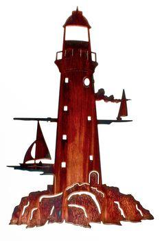 Lighthouse Beyond the Horizon Laser Cut Metal Wall Art