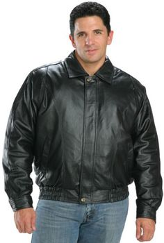 USA Leather Classic Mens Leather Bomber Jacket - Small USA Leather  $89.95 - $94.95