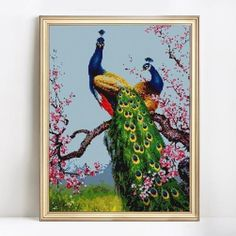 Royal Peacocks - DIY Diamond Painting - Full Drill – Easy Whim High Definition Pictures, Time Design, 5d Diamond Painting, Quality Diamonds, Paint By Number, Mosaic Art, All Pictures, Drill, Beautiful Flowers