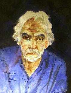 Alonso, Carlos (1929- ) - 2004 Self-Portrait in Blue by RasMarley, via Flickr
