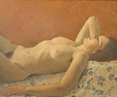 Conrad MEILI – Oil on Wood, signed and dated 1938 54 x cm Woodblock Print, Nude, Female, Canvas, Drawings, Artwork, Prints, Pictures, Painting