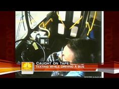 ▶ Bus Driver Texting While Driving Caught on Tape (Today Show) - YouTube