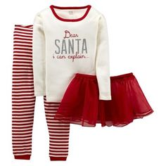 An idea for Carly's Christmas (2014) outfit.  Just One You Made by Carter's® Infant Girls' Dear Santa Tutu $12.99 target.com