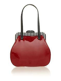 941c71ba69a2 Lulu Guiness Pollyanna red patent shoulder bag One Bag
