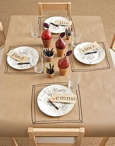 * Kids Dinner Party Table. No website - just a pic, but what a fun idea!