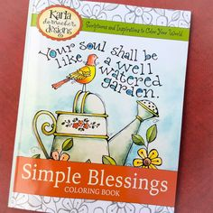 Simple Blessings Coloring Book with Bible Verses by karladornacher