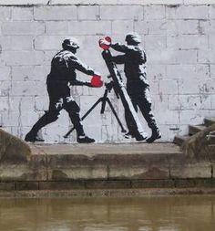 """Heart attack"" – (Kill them with kindness) Vienna, Austria piece by Austrian artist Tabby."