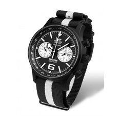 Reloj Vostok con correa de nylon estilo NATO de rayas, con la combinación de colores de moda de esta temporada: El Blanco y Negro  http://www.tutunca.es/reloj-sumergible-north-pole-nylon-rayas-blanco-negro-vostok