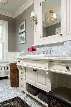 traditional bathroom by Charlie Simmons - Charlie & Co. Design, Ltd. - Mixing Fixture colors