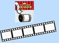 Decorative filmstrip is an easy way to decorate for a movie or cinema theme party. Stretch the 3 inch Movie Filmstrip anywhere you want to invoke a movie theme. Hollywood Theme Classroom, Classroom Themes, Classroom Organization, Movie Themes, Party Themes, Party Ideas, Theme Ideas, Decor Ideas, 8th Grade Dance