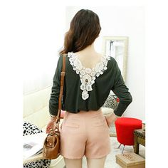Buy 'Dodostyle – Lace Trim-Back Top' at YesStyle.com plus more South Korea items and get Free International Shipping on qualifying orders.
