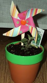 pinwheel potted herbs great add on giftie or wedding shower thank you prize