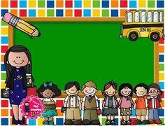val School Teacher, Pre School, Back To School, Drawing For Kids, Art For Kids, Boarder Designs, School Frame, Class Pictures, Fancy Fonts