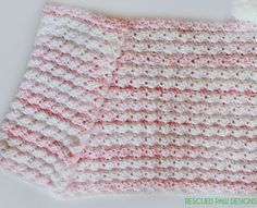 Crochet Baby Blanket Pattern featuring the Blanket Stitch :: Rescued Paw Designs Crochet Blanket Pattern - Blanket Stitch